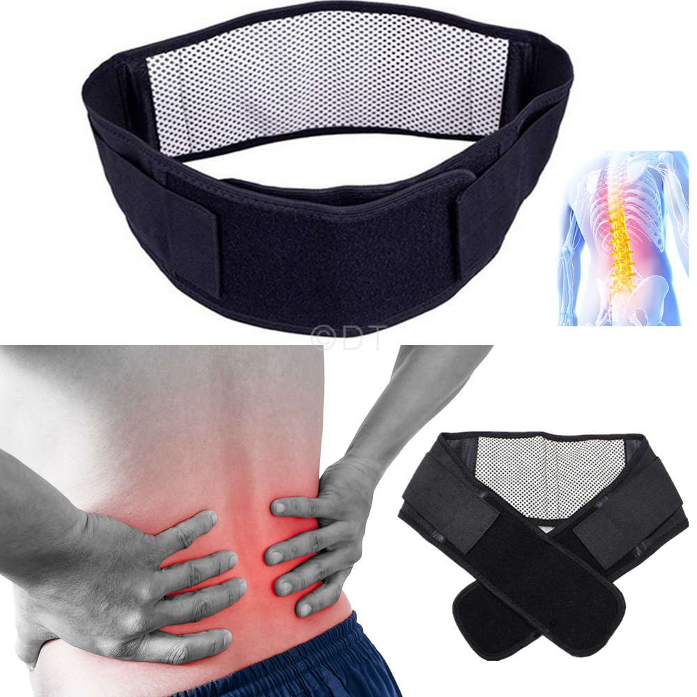 Deluxe Double Pull Magnetic Lumbar Lower Back Support Belt Breathable Brace NEW