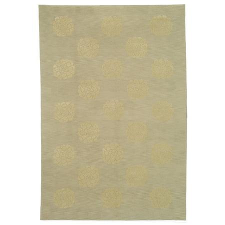 Martha Stewart  by  Medallions Quartz Silk/ Wool Rug - 5'-6