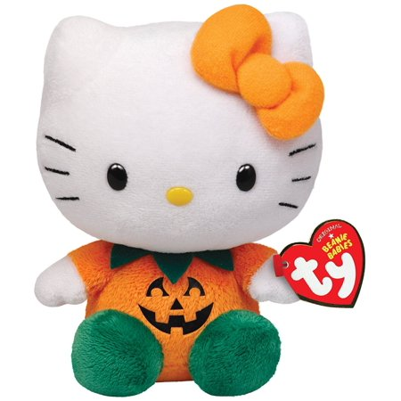 Cp Ty Beanie Babies Halloween Hello Kitty - Orange Pumpkin Plush Great  Halloween Gift - Walmart.com 243bbec8ed80