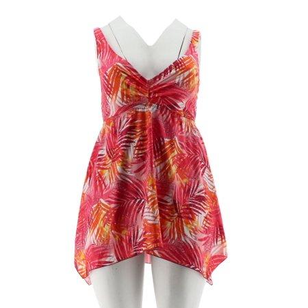 New Smocked Dress 2 Piece (Ocean Dream Tahitian Palm Sharkbite Swim Dress A288814)