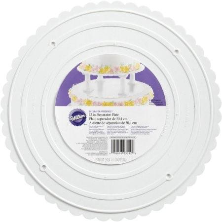 """Wilton Separator Decorator Preferred Scalloped Plate, 12"""", 1 Ct"""