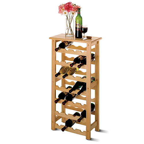 Click here to buy 24-Bottle Compact-Sized Wine Rack by Winesome Wood.