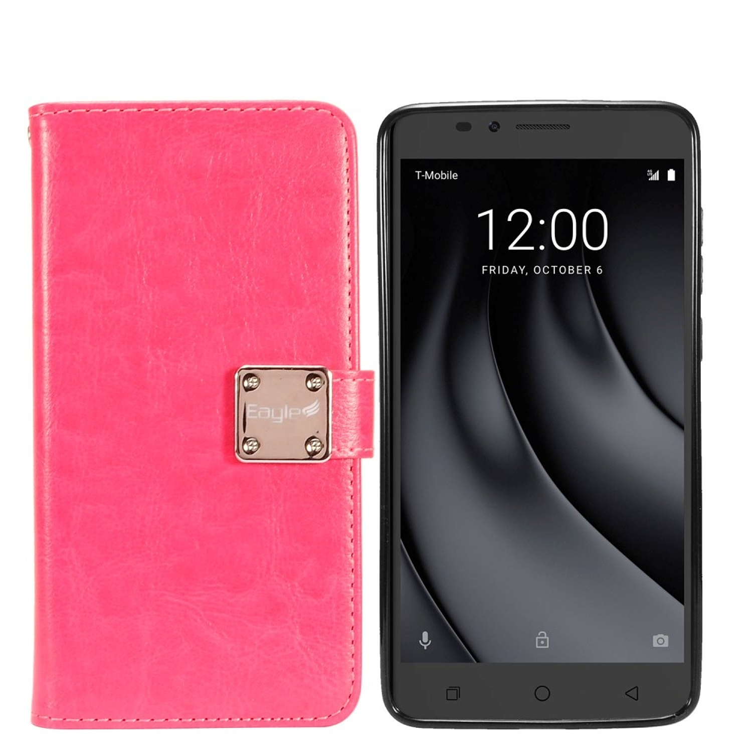 Coolpad Revvl Plus (T-Mobile) Case, by Insten Detachable Magnetic Folio Flip Leather Case Cover w/[Card Slot] Wallet Flap Pouch/Photo Display For Coolpad Revvl Plus (T-Mobile)
