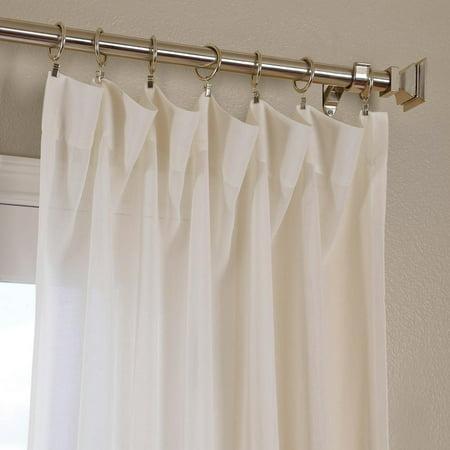 Exclusive Fabrics & Furnishings Gardenia Faux Linen Sheer Single Panel Curtain Panel 50