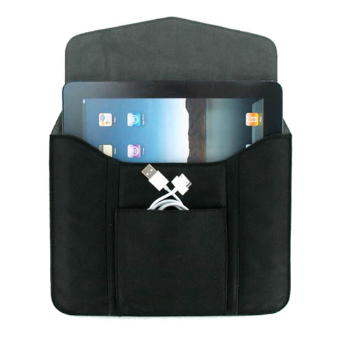 Leather Tablet Sleeve for iPad 1 & 2, Motorola Xoom, HP Touchpad...