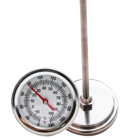 Compost Thermometer, Stainless Steel,Celsius and Fahrenheit Temperature Dial, 20 inch - Dial Temperature Range