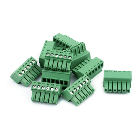 10Pcs 300V KF2EDGK 3 5mm Pitch 6-Pin PCB Screw Terminal Block