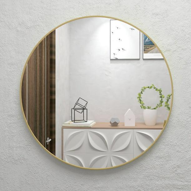 32 Wall Circle Mirror Large Round Gold Farmhouse Circular Mirror For Wall Decor Big Bathroom Make Up Vanity Mirror Entryway Mirror Walmart Com Walmart Com