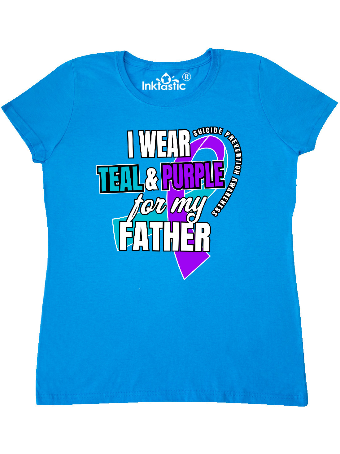 inktastic Suicide Prevention I Wear Teal and Purple for My Baby T-Shirt