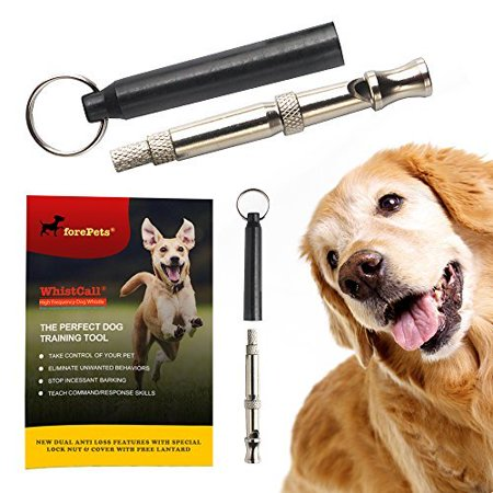 PROFESSIONAL Dog Whistle To Stop Barking | with PROVEN Training Guide | BEST New Anti Loss Version | FREE Lanyard | 100% | Black Stop Neighbor Dog Barking