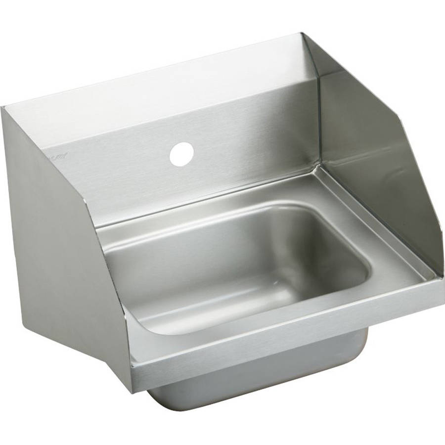 Elkay CHS1716LRS1 Commercial Stainless Steel Handwash Sink with Single Faucet Hole