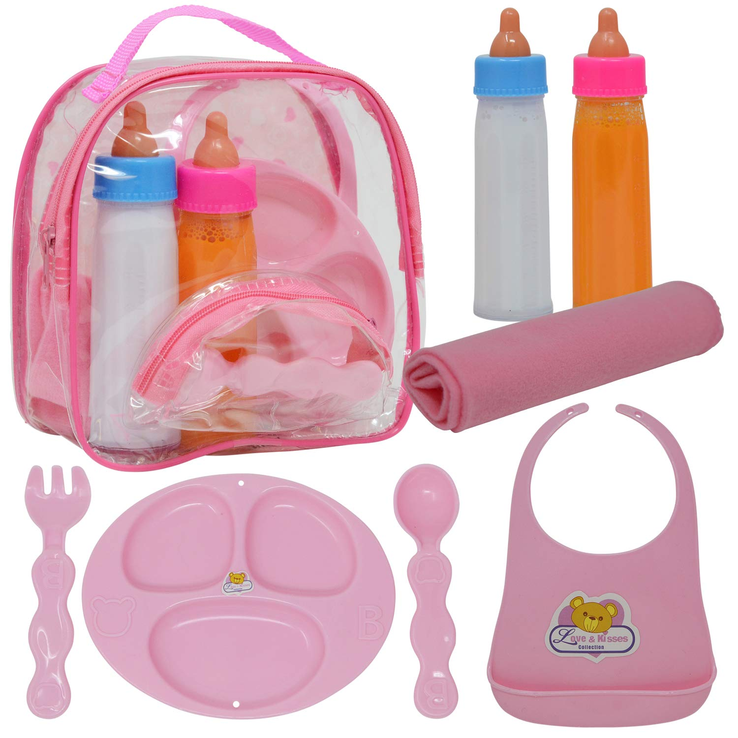 Baby Doll Accessories,Doll Magic Bottles and Doll Feeding Set in a Bag