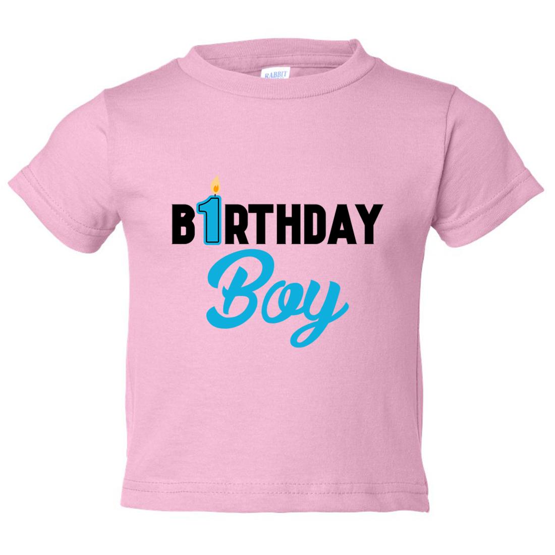 Boys 1 Year Old Birthday Boy Toddler Shirt Candle Funny Threadz Kids Light Pink 12 Month