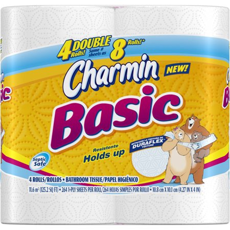 Charmin Basic Toilet Paper, 4ct - Walmart.com