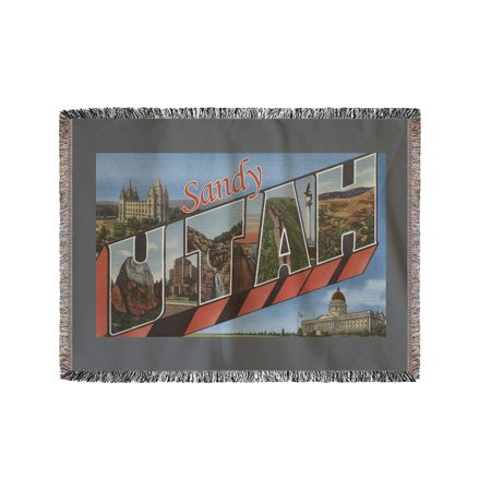 Sandy, Utah - Large Letter Scenes (60x80 Woven Chenille Yarn Blanket) for $<!---->