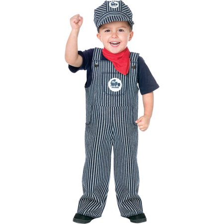 Train Engineer Toddler Halloween Costume (Thomas The Train Costume 2t)