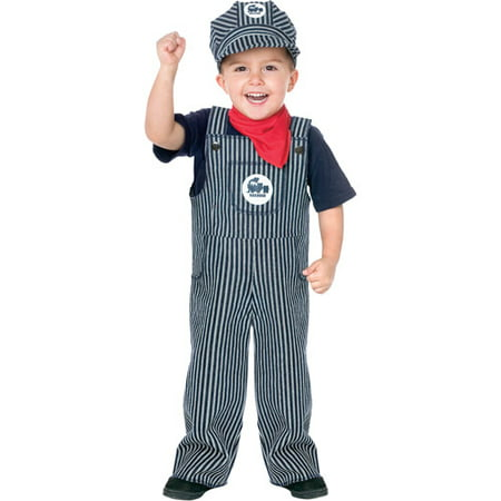 Train Engineer Toddler Halloween Costume - Toddlers Halloween Costumes