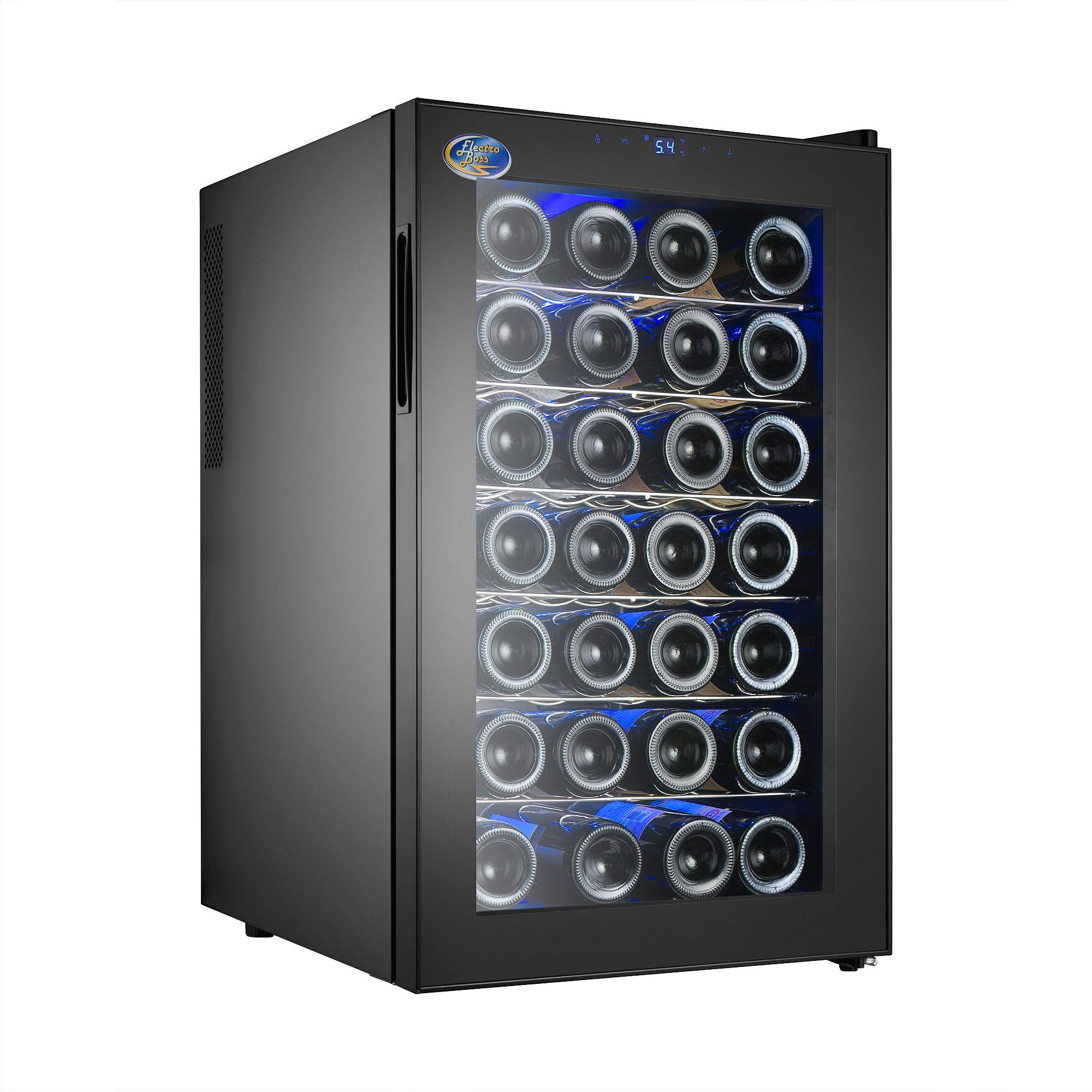Electro Boss 28 Bottle Thermoelectic Wine Cooler Black | Beverage Refrigerator