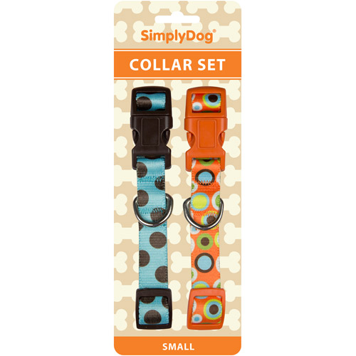 Simplydog  Blue Brown And Orange Dots Co