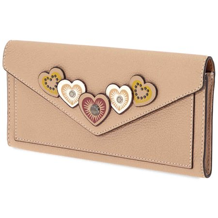 Coach Ladies Continental Wallet Leather Beige Hrt (Best Workout Coach App)