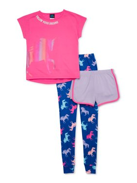 Jellifish Kids Girls Matching 3-Piece Pajama Set Sizes 4-14