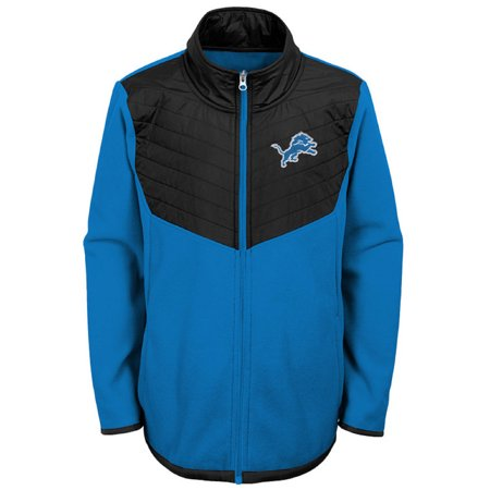 Youth Blue/Black Detroit Lions Polar Full-Zip Jacket