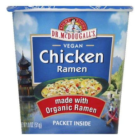 Dr. McDougall's Organic Ramen Soup - Chicken Flavor Big Cup, 1.8 OZ (Pack of (Mcdougalls Big Cup Soup)