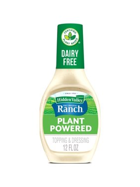 Hidden Valley The Original Ranch Plant Powered Dairy Free Ranch Salad Dressing and Topping, Gluten Free, 12 Fluid Ounces