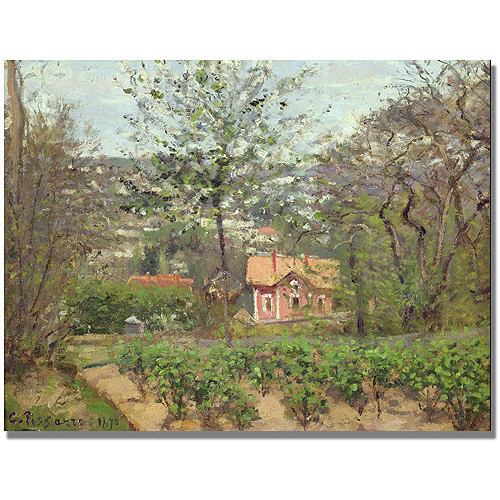 "Trademark Fine Art ""The Cottage"" Canvas Art by Camille Pissaro"