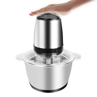 ZOKOP 2L Portable Electric Meat Grinder Home Use Stainless Steel Food Grinder and Sausage Maker