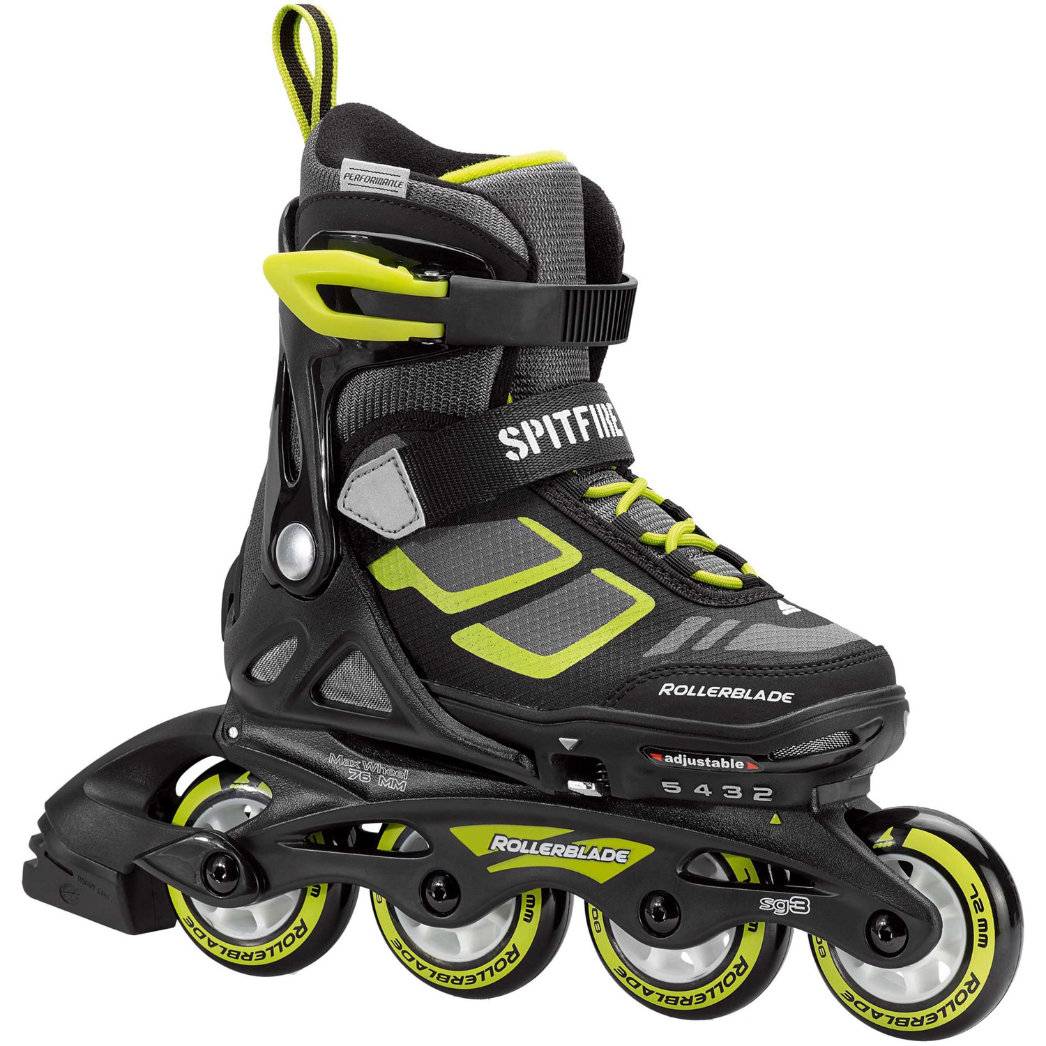 Rollerblade Spitfire XT 4-Size Expandable Boys Inline Skates