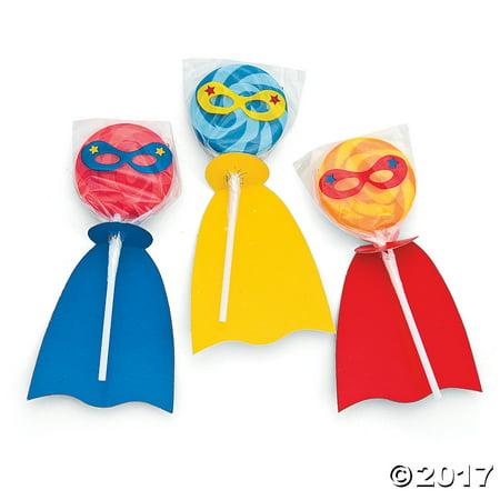 Superhero Swirl Lollipops Set Pack of 1