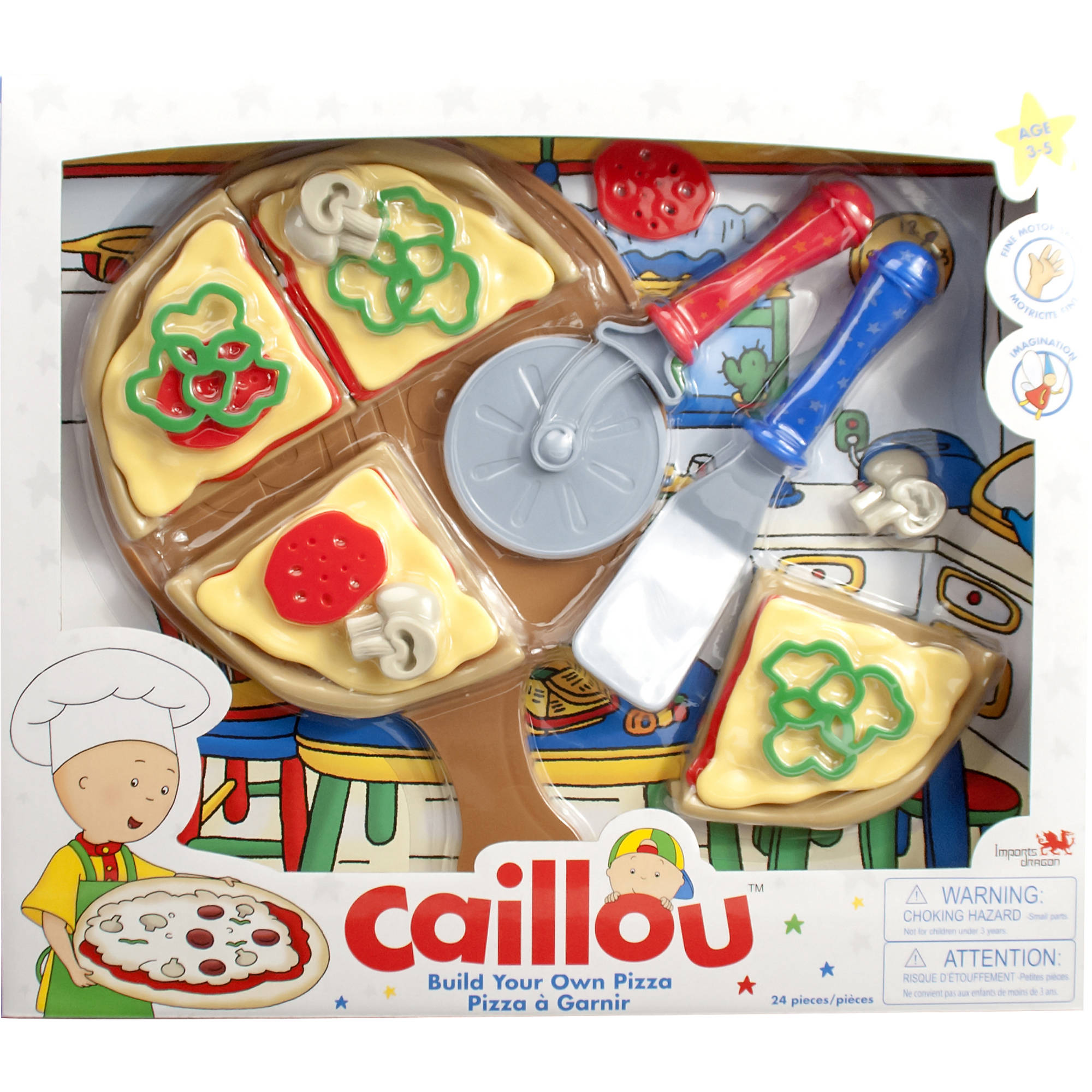 Caillou Build Your Own Pizza Set
