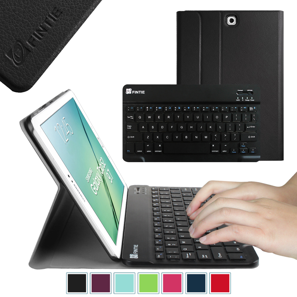Fintie Keyboard Case for Samsung Galaxy Tab S2 9.7 Tablet - Slim Shell Cover with Bluetooth Keyboard, Black