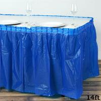 "BalsaCircle 14 feet x 29"" Plastic Table Skirt"