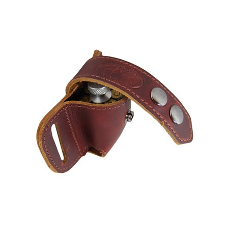 Barsony Burgundy Leather Revolver Speed Loader Pouch for 6 shot .44 (Best 44 Magnum Revolver For The Money)