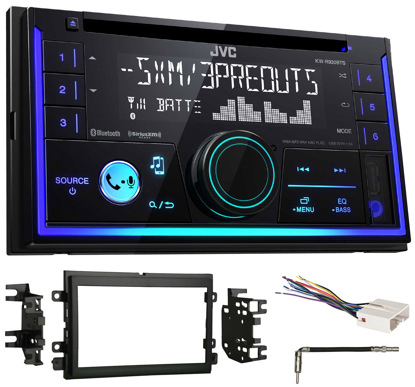 2007 Ford Mustang JVC Car Stereo CD Receiver w Bluetooth USB iPhone Sirius by JVC