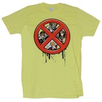 X-Men (Marvel Comics) Mens T-Shirt - X Dripping Logo Filled With hero Images