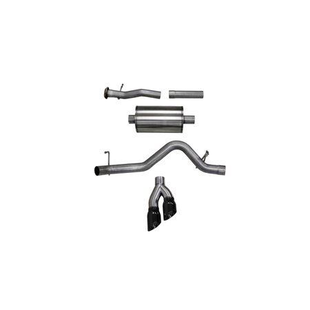 Corsa 15-16 Chevy Colorado 3.6L V6 Sport Cat-Back Exhaust 4in Black Pro Series Tips