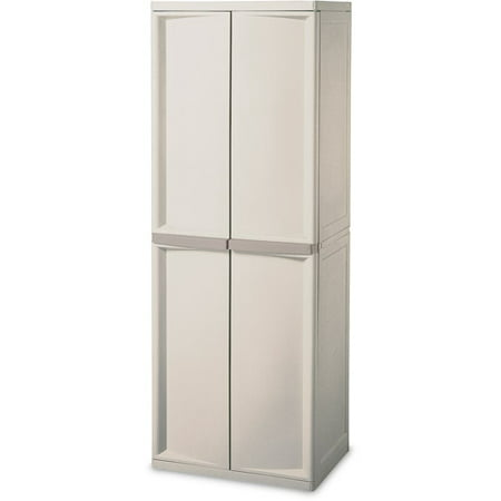 Sterilite 01428501 4-Shelf Utility Cabinet with Putty Handles ...