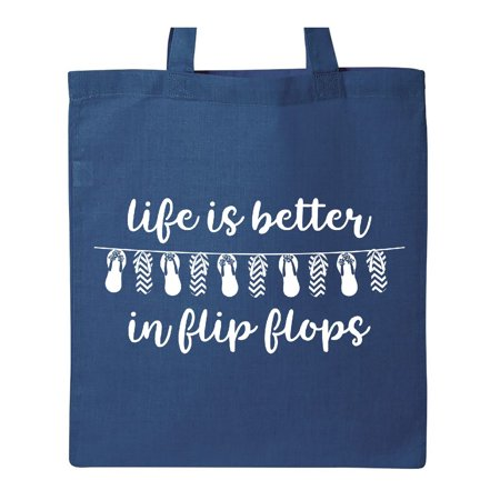 Life Better Flip Flops II WHT Tote Bag Royal Blue One Size - Royal Blue Bag