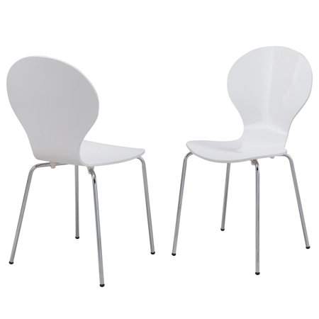 - Carolina Chair and Table Annalee Transitional White Bentwood Dining Chair Set of 2