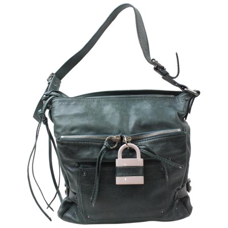 4db27549e7 Chloé - Chloé Paddington Padlock Hobo 868993 Green Leather Shoulder Bag  PRE-OWNED - Walmart.com
