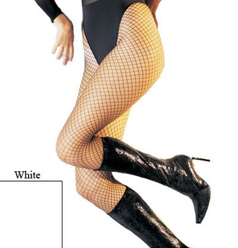 Sexy White Lycra Fishnet Panty Hose for Costumes