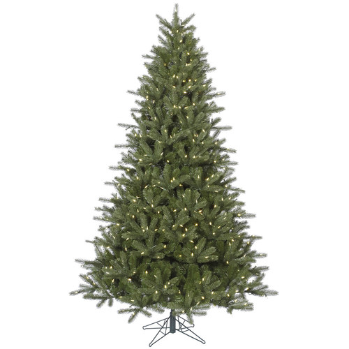 The Holiday Aisle Kennedy 7.5' Green Fir Artificial Christmas Tree with 650 LED White Lights with Stand