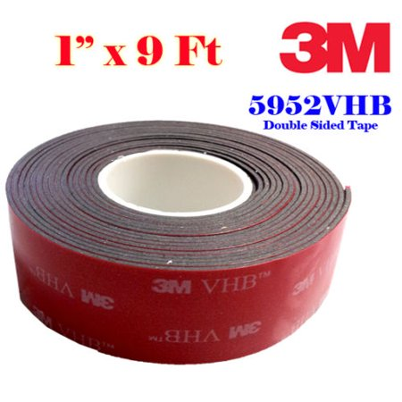 genuine 3m 1 25mm x 9 ft vhb double sided foam adhesive tape 5952 grey automotive gopro. Black Bedroom Furniture Sets. Home Design Ideas