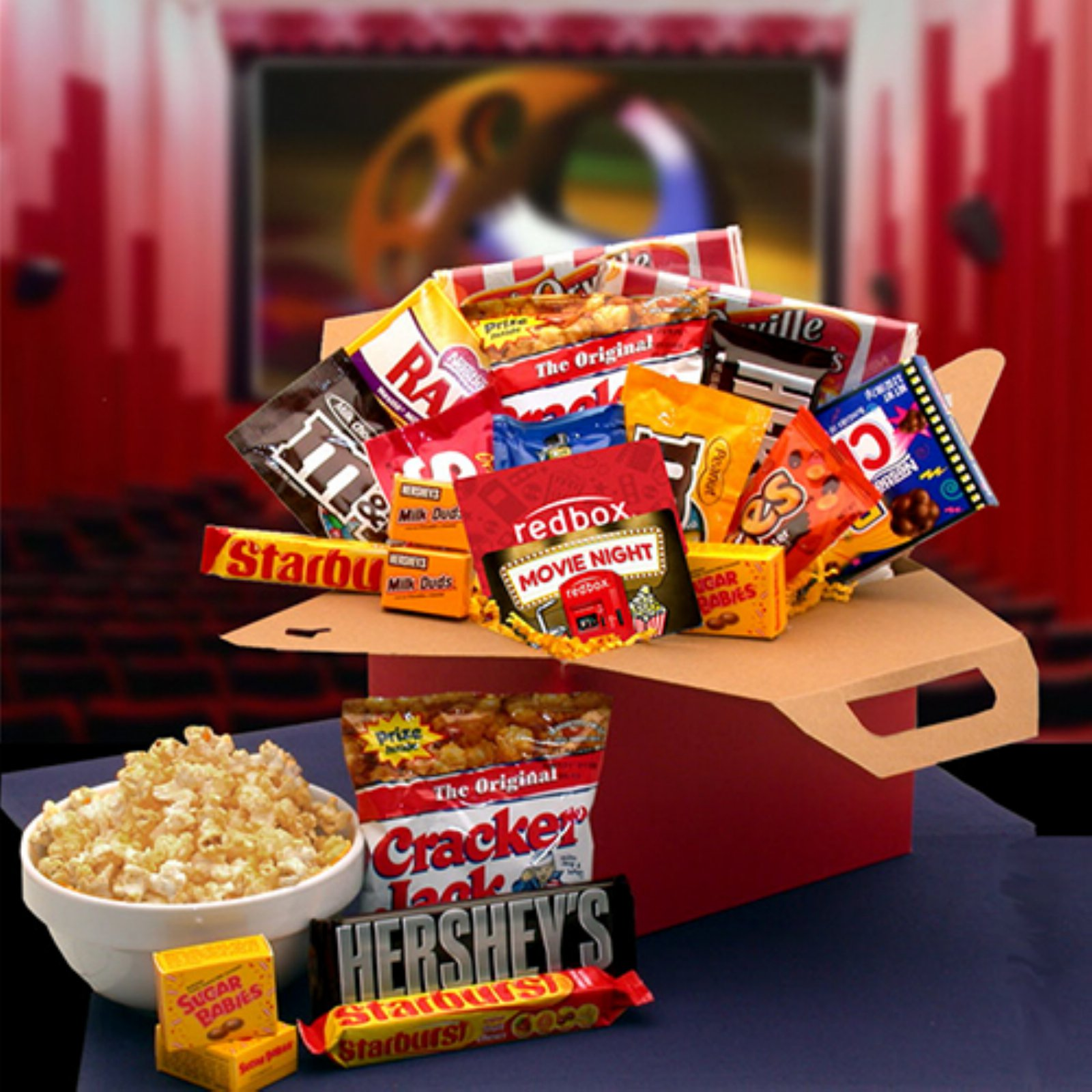 Movie Night Care Package with 10.00 Redbox Gift Card