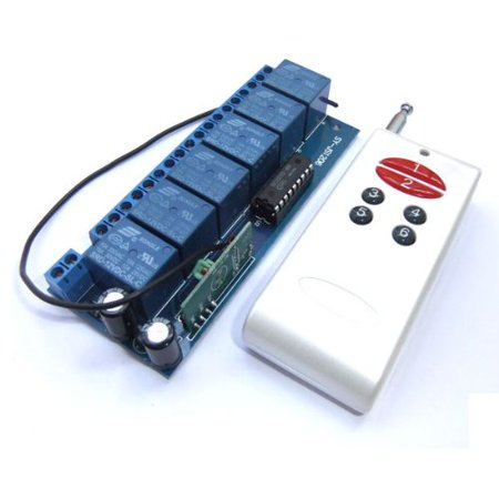 Relay Controller Board - DROK DC 12V Non-Locking Switched Board 6-Channel Relay Wireless Alarm Remote Control Controller