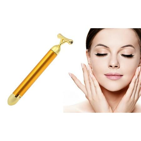 24K Gold Beauty Facial Massager Bar Tool for Firming Lift