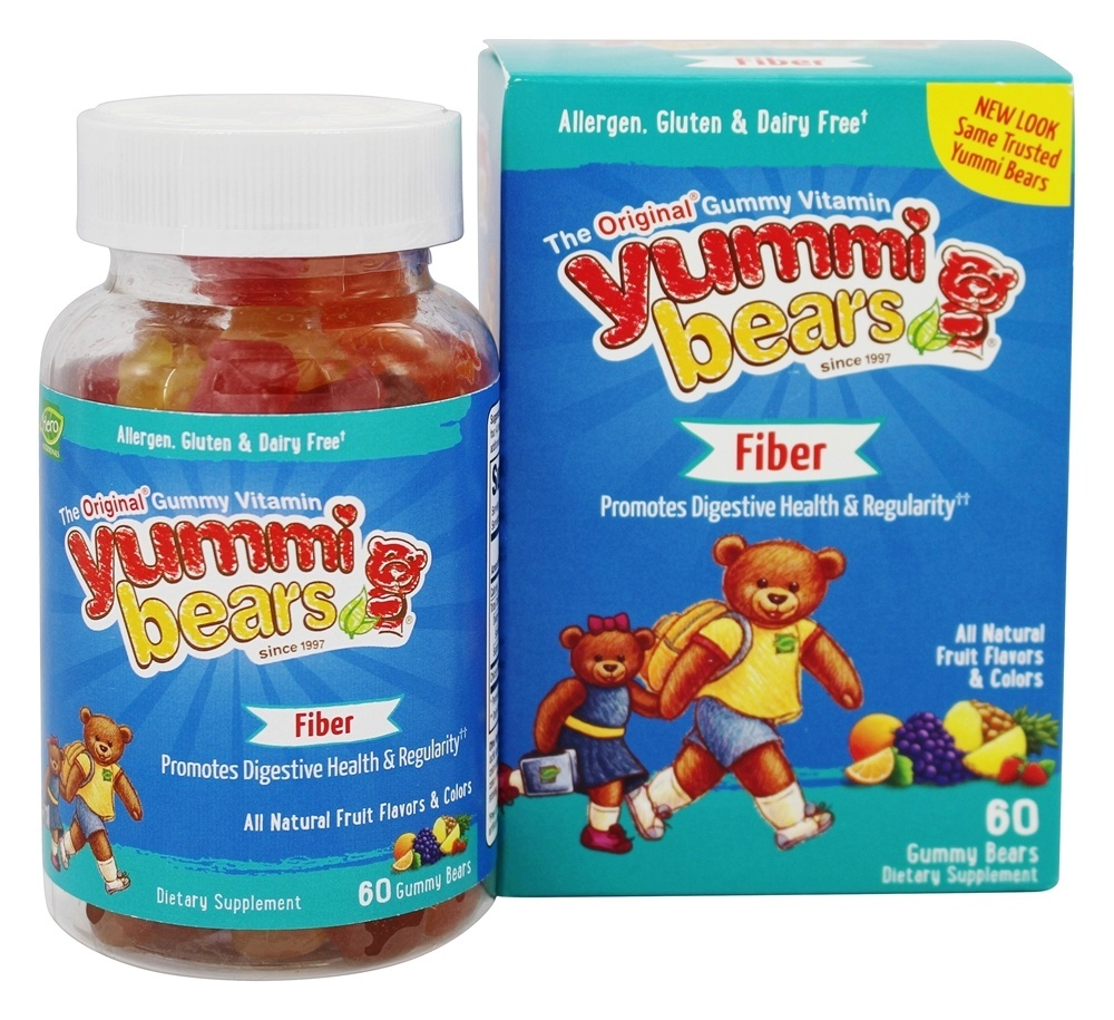 Yummi Bears Fiber, Gummy Bears, Fruit Flavors